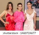 """Small photo of Los Angeles, CA - July 22, 2019: Tallulah Belle Willis, Scout Larue Willis and Rumer Willis attend The Los Angeles Premiere Of """"Once Upon a Time in Hollywood"""" held at TCL Chinese Theatre"""