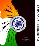 beautiful grungy indian flag... | Shutterstock .eps vector #146072615