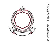 graphic emblem composed with... | Shutterstock .eps vector #1460759717