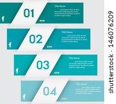 design clean number banners... | Shutterstock .eps vector #146076209