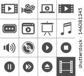 video and cinema icon set.... | Shutterstock .eps vector #146081345
