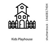 Icon Of Kids Playhouse Line...