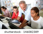 instructor in training class... | Shutterstock . vector #146082389