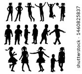 black silhouette child boy and... | Shutterstock .eps vector #1460825837