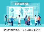 healthcare and geriatrics... | Shutterstock .eps vector #1460831144