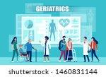 healthcare and geriatrics... | Shutterstock .eps vector #1460831144