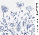 vintage floral illustration.... | Shutterstock .eps vector #1460872877