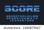 blue chrome steel sports... | Shutterstock .eps vector #1460875067