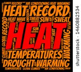 "word cloud on the topic ""heat"" 