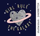 galaxy heart star pink line... | Shutterstock .eps vector #1460887724