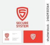 secure system logo. orange...