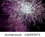 white and purple fireworks... | Shutterstock . vector #146093471