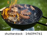 barbecue a hot summer evening ... | Shutterstock . vector #146094761