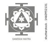 vector icon with ganesha yantra ...   Shutterstock .eps vector #1460952131
