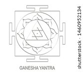 vector icon with ganesha yantra ...   Shutterstock .eps vector #1460952134