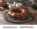 Plate With Tasty Chocolate Cake ...