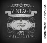retro vintage chalk label ...   Shutterstock .eps vector #146098055