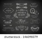 chalk  typography  calligraphic ... | Shutterstock .eps vector #146098379