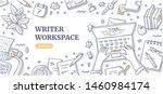writer editor journalist or... | Shutterstock .eps vector #1460984174