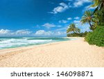 Untouched Sandy Beach With...