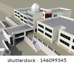 architecture 3d sketch of the... | Shutterstock . vector #146099345