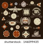 set of retro vintage style... | Shutterstock .eps vector #146099435
