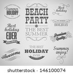elements for summer holidays ... | Shutterstock .eps vector #146100074