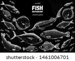 fish sketch collection. hand... | Shutterstock .eps vector #1461006701