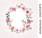 vector flower font capital q | Shutterstock .eps vector #146101874