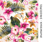 seamless hand draw tropical... | Shutterstock .eps vector #146101901