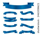 blue ribbons set. vector ribbon ... | Shutterstock .eps vector #1461038621