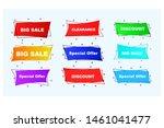 bundle of 9 sale banner... | Shutterstock .eps vector #1461041477