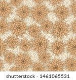seamless textile flower pattern ...   Shutterstock . vector #1461065531