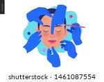 medical insurance  cosmetic ... | Shutterstock .eps vector #1461087554