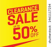 clearance sales label  vector... | Shutterstock .eps vector #1461117254
