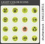 alternative energy vector icons ... | Shutterstock .eps vector #1461118511