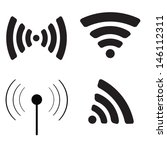 wireless icon. flat design... | Shutterstock .eps vector #146112311