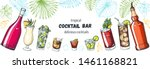 alcoholic cocktails hand drawn... | Shutterstock .eps vector #1461168821