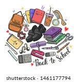 vector fashion illustration.... | Shutterstock .eps vector #1461177794