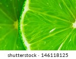 close up of a slice of lime | Shutterstock . vector #146118125