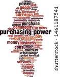 purchasing power word cloud... | Shutterstock .eps vector #1461187541