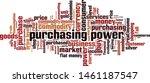 purchasing power word cloud... | Shutterstock .eps vector #1461187547