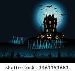 vector mansion haunted house... | Shutterstock .eps vector #1461191681