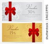 voucher  gift certificate ... | Shutterstock .eps vector #146119991