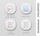 biotechnology app icons set....