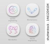 bioengineering app icons set....