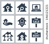 vector real estate icons set   Shutterstock .eps vector #146121221