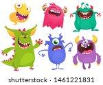 cartoon monsters. set of... | Shutterstock . vector #1461221831
