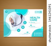 corporate healthcare cover a4... | Shutterstock .eps vector #1461241091