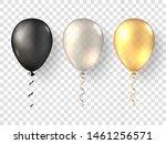 black  white gold realistic... | Shutterstock .eps vector #1461256571